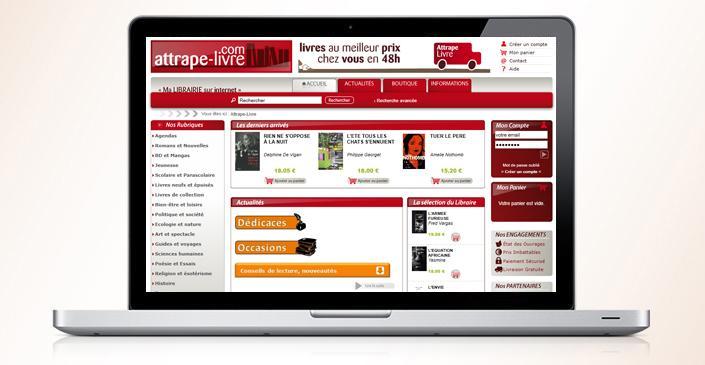 Attrape-livre : site marchand e-commerce de livres neufs et occasion
