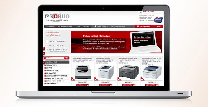 Boutique de matériel informatique : Probug