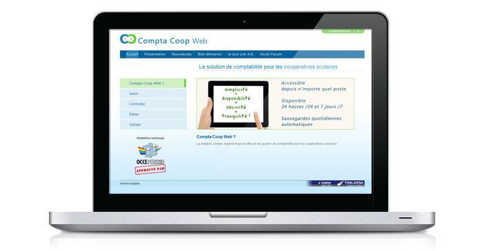 Création du site de présentation : Compta Coop Web