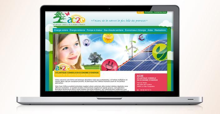 Création du site web de conseil en économie d'énergies : AC2E44