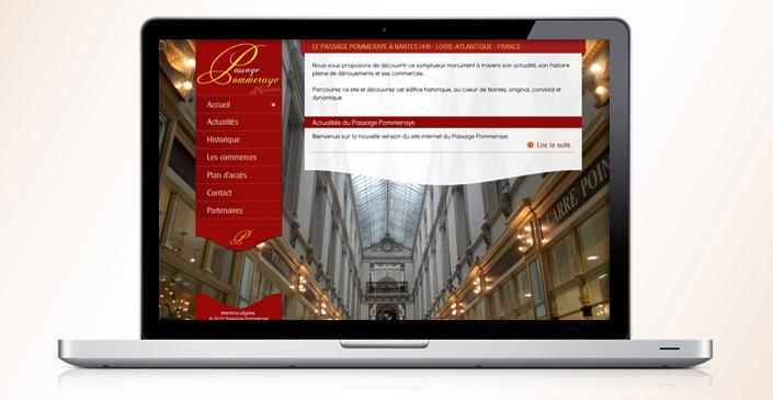 Création du site Web : Passage Pommeraye à Nantes