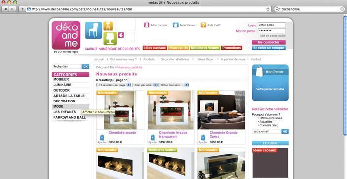 site marchand boutique e commerce d co and me vente en ligne de d coration design. Black Bedroom Furniture Sets. Home Design Ideas