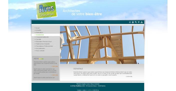 Site d'une entreprise de pose de fenêtres à Nantes : AVOS Fenêtres