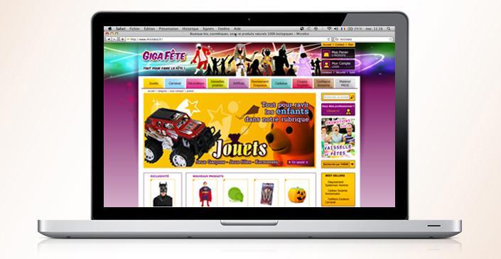 Site marchand d'articles de fêtes : Méga Fêtes / Giga Fêtes