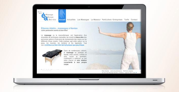 Site vitrine : Etienne Adelin Massages