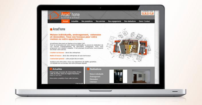 Site web catalogue : Arcad'home